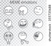 set of emoticon doodles for... | Shutterstock .eps vector #355735688