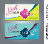 voucher template gift... | Shutterstock .eps vector #355764542