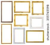 set photo frame isolated on... | Shutterstock . vector #355765598