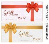 voucher template with floral... | Shutterstock . vector #355772582