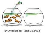 fish aquarium business concept  | Shutterstock .eps vector #355783415