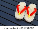 A Pair Of Japanese Sandals On ...