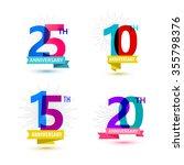 vector set of anniversary... | Shutterstock .eps vector #355798376