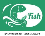 sea life  concept with fish...   Shutterstock .eps vector #355800695