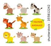 vector illustration of cute... | Shutterstock .eps vector #355812242