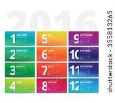 calendar vector unique design...   Shutterstock .eps vector #355813265