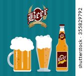 beer concept with her own glass ... | Shutterstock .eps vector #355829792