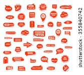 very big set of bright labels... | Shutterstock . vector #355840742