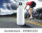 Water Bottle On Road For Cycling