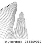 abstract city buildings | Shutterstock . vector #355869092