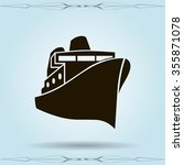 ship sign icon  vector icon | Shutterstock .eps vector #355871078