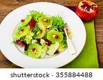 salad mix batavian  frise ... | Shutterstock . vector #355884488
