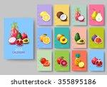 wall calendar 2016   polygonal...   Shutterstock .eps vector #355895186
