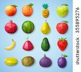 fruit icons. vector illustration | Shutterstock .eps vector #355895276