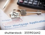 approved mortgage loan... | Shutterstock . vector #355901642