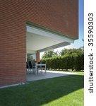modern brick house   Shutterstock . vector #35590303