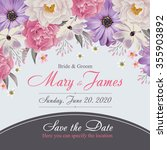 flower wedding invitation card  ... | Shutterstock .eps vector #355903892