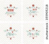 lovely wedding design set | Shutterstock .eps vector #355905218