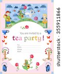 tea party invitation for kids.... | Shutterstock .eps vector #355911866