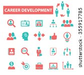 career development  icons ... | Shutterstock .eps vector #355917785