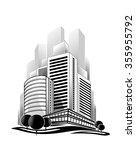 vector illustration of modern... | Shutterstock .eps vector #355955792