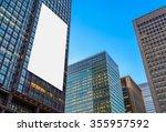 blank billboard and  high rise...   Shutterstock . vector #355957592