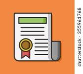 award certificate paper icon | Shutterstock .eps vector #355961768