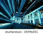 pipes  tubes  machinery and... | Shutterstock . vector #35596351
