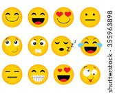 emoticon. vector style smile... | Shutterstock .eps vector #355963898