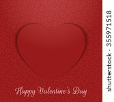 valentines day realistic... | Shutterstock .eps vector #355971518