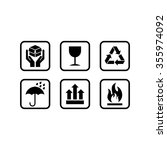 packing icon vector template | Shutterstock .eps vector #355974092