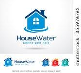 house water logo template... | Shutterstock .eps vector #355976762