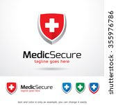 medical secure logo template... | Shutterstock .eps vector #355976786