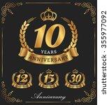 10 years anniversary decorative ... | Shutterstock .eps vector #355977092