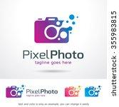 pixel photo logo template... | Shutterstock .eps vector #355983815
