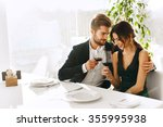 love. happy romantic smiling... | Shutterstock . vector #355995938