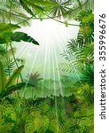 forest landscape of tropical... | Shutterstock . vector #355996676
