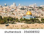 Panorama Of Jerusalem With Dom...