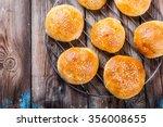fresh homemade hamburger buns...   Shutterstock . vector #356008655