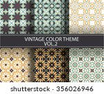 seamless pattern set | Shutterstock .eps vector #356026946