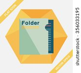folder flat icon with long...   Shutterstock .eps vector #356033195