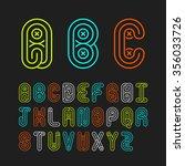mono lines style alphabetic...
