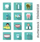 modern flat dental icons set...   Shutterstock .eps vector #356060318