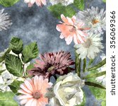 Art Watercolor Vintage Floral...