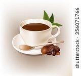 coffe cup retro style vector... | Shutterstock .eps vector #356071766