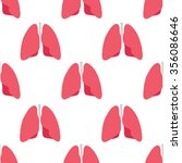 seamless pattern. human lungs.... | Shutterstock .eps vector #356086646