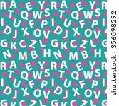 letter pattern. | Shutterstock .eps vector #356098292