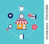 e commerce concept online... | Shutterstock .eps vector #356101886