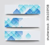 set of banner templates with... | Shutterstock . vector #356103938