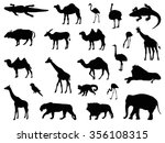 safari animals set | Shutterstock .eps vector #356108315